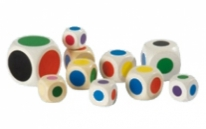Coloured dot dice